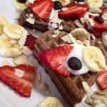 Zdravé snídaňové vafle