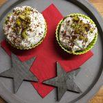 Kakaové cupcakes s pistáciemi